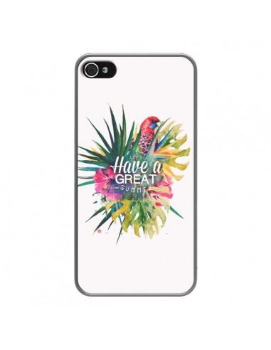 Coque iPhone 4 et 4S Have a great summer Ete Perroquet Parrot - Eleaxart