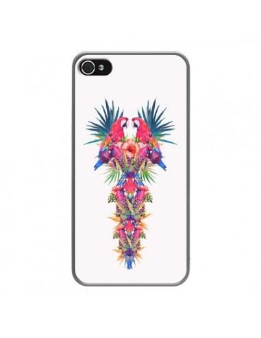 Coque iPhone 4 et 4S Parrot Kingdom Royaume Perroquet - Eleaxart