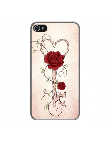Coque iPhone 4 et 4S Key of Love Clef Amour - LouJah