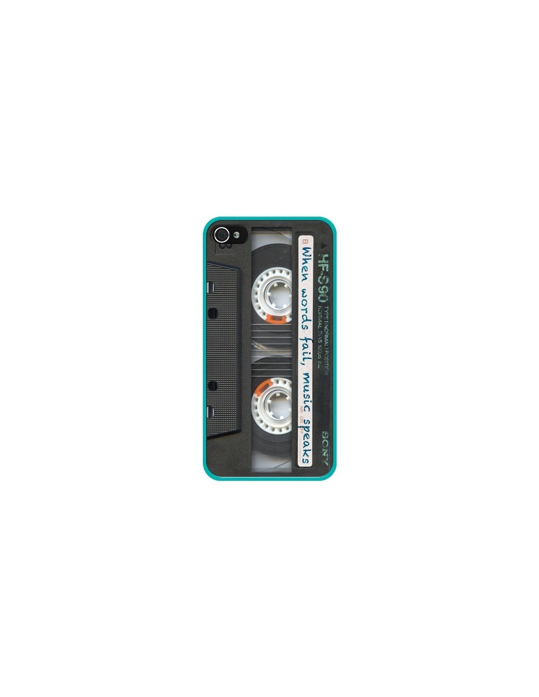 coque cassette words k7 pour iphone 4 et 4s maximilian san. Black Bedroom Furniture Sets. Home Design Ideas