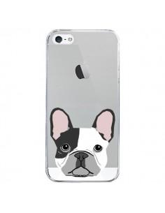 Coque iPhone 5/5S et SE Bulldog Français Chien Transparente - Pet Friendly