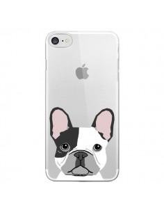 Coque iPhone 7/8 et SE 2020 Bulldog Français Chien Transparente - Pet Friendly