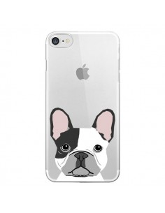 Coque iPhone 7 et 8 Bulldog Français Chien Transparente - Pet Friendly