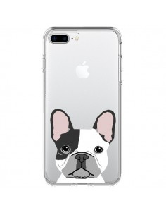 Coque Bulldog Français Chien Transparente pour iPhone 7 Plus - Pet Friendly