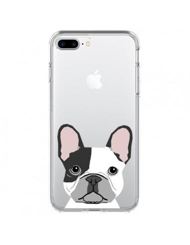 Coque iPhone 7 Plus et 8 Plus Bulldog Français Chien Transparente - Pet Friendly