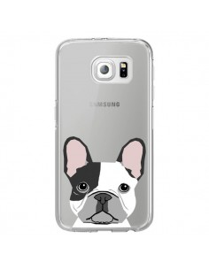 Coque Bulldog Français Chien Transparente pour Samsung Galaxy S6 Edge - Pet Friendly