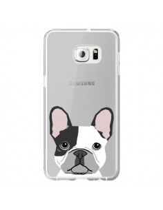 Coque Bulldog Français Chien Transparente pour Samsung Galaxy S6 Edge Plus - Pet Friendly