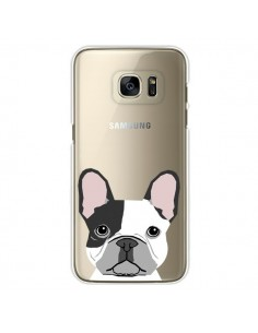 Coque Bulldog Français Chien Transparente pour Samsung Galaxy S7 Edge - Pet Friendly