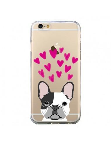 coque iphone 6 et 6s bulldog français coeurs chien transparente pet friendly