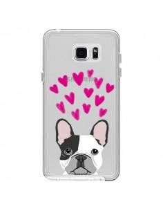 Coque Bulldog Français Coeurs Chien Transparente pour Samsung Galaxy Note 5 - Pet Friendly
