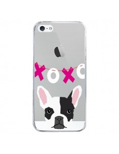 Coque Bulldog Français XoXo Chien Transparente pour iPhone 5/5S et SE - Pet Friendly
