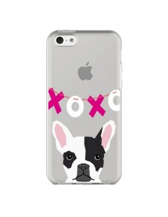 Coque iPhone 5C Bulldog Français XoXo Chien Transparente - Pet Friendly