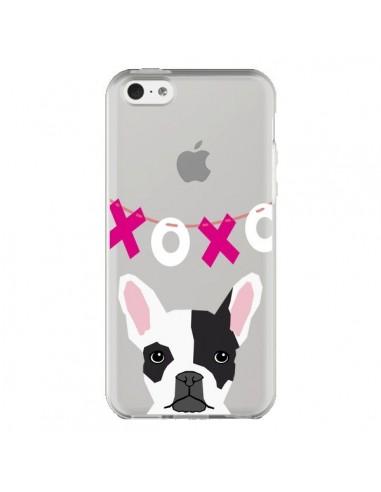 Coque iPhone 5C Bulldog Français XoXo Chien Transparente - Pet Friendly
