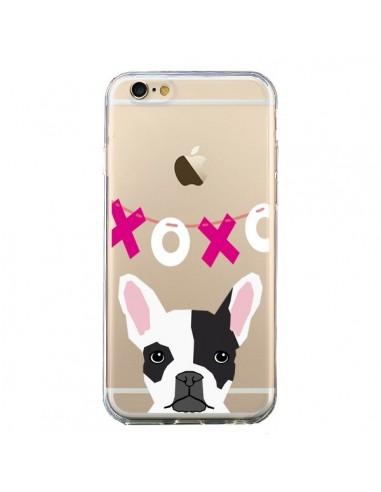 Coque Bulldog Français XoXo Chien Transparente pour iPhone 6 et 6S - Pet Friendly