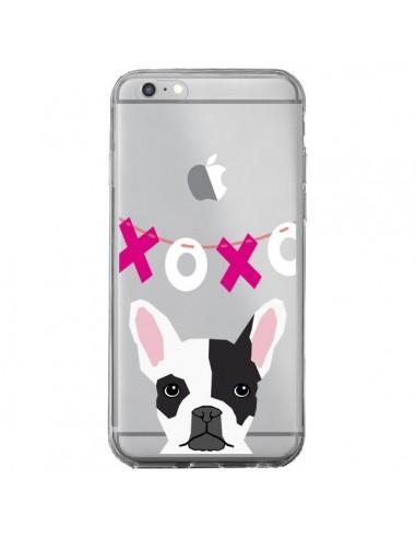 Coque Bulldog Français XoXo Chien Transparente pour iPhone 6 Plus et 6S Plus - Pet Friendly