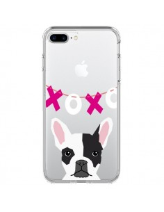 Coque Bulldog Français XoXo Chien Transparente pour iPhone 7 Plus - Pet Friendly