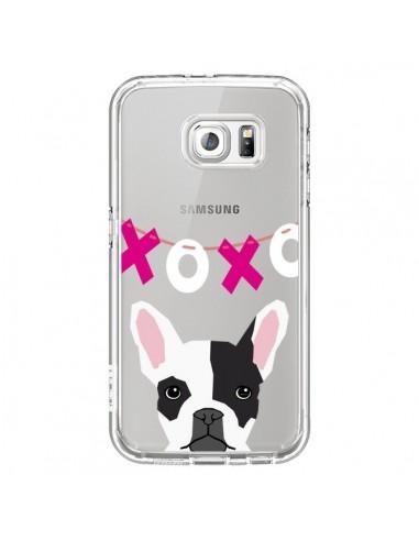 Coque Bulldog Français XoXo Chien Transparente pour Samsung Galaxy S6 - Pet Friendly