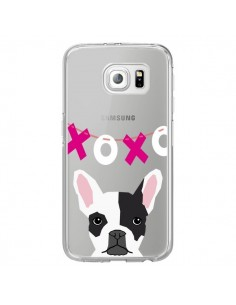 Coque Bulldog Français XoXo Chien Transparente pour Samsung Galaxy S6 Edge - Pet Friendly