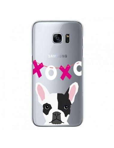 Coque Bulldog Français XoXo Chien Transparente pour Samsung Galaxy S7 - Pet Friendly