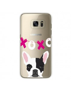 Coque Bulldog Français XoXo Chien Transparente pour Samsung Galaxy S7 Edge - Pet Friendly