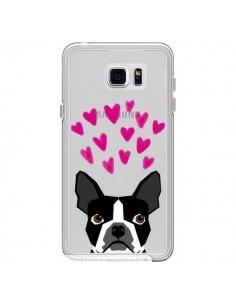 Coque Boston Terrier Coeurs Chien Transparente pour Samsung Galaxy Note 5 - Pet Friendly