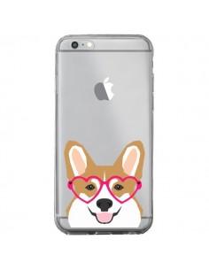 Coque iPhone 6 Plus et 6S Plus Chien Marrant Lunettes Coeurs Transparente - Pet Friendly
