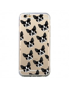 Coque iPhone 6 et 6S Chiens Boston Terrier Transparente - Pet Friendly