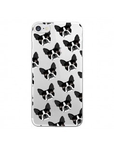 Coque iPhone 7 et 8 Chiens Boston Terrier Transparente - Pet Friendly