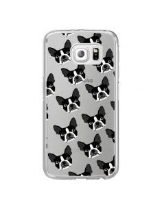 Coque Chiens Boston Terrier Transparente pour Samsung Galaxy S6 Edge - Pet Friendly