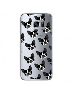 Coque Chiens Boston Terrier Transparente pour Samsung Galaxy S7 - Pet Friendly