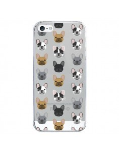 Coque iPhone 5/5S et SE Chiens Bulldog Français Transparente - Pet Friendly