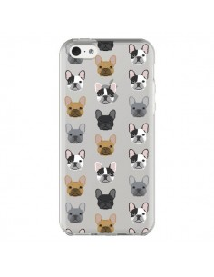 Coque Chiens Bulldog Français Transparente pour iPhone 5C - Pet Friendly
