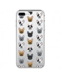 Coque Chiens Bulldog Français Transparente pour iPhone 7 Plus et 8 Plus - Pet Friendly
