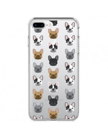 Coque iPhone 7 Plus et 8 Plus Chiens Bulldog Français Transparente - Pet Friendly