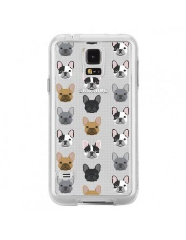 Coque Chiens Bulldog Français Transparente pour Samsung Galaxy S5 - Pet Friendly