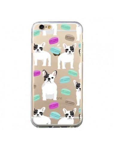 Coque Chiens Bulldog Français Macarons Transparente pour iPhone 6 et 6S - Pet Friendly