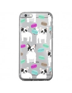 Coque Chiens Bulldog Français Macarons Transparente pour iPhone 6 Plus et 6S Plus - Pet Friendly
