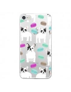 Coque Chiens Bulldog Français Macarons Transparente pour iPhone 7 et 8 - Pet Friendly