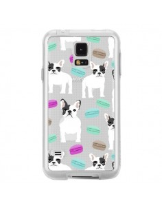 Coque Chiens Bulldog Français Macarons Transparente pour Samsung Galaxy S5 - Pet Friendly
