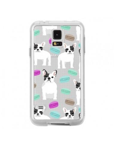 Coque Chiens Bulldog Français Macarons Transparente pour Samsung Galaxy S5 - Pet Friendly