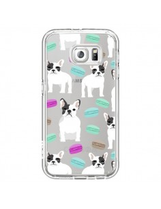 Coque Chiens Bulldog Français Macarons Transparente pour Samsung Galaxy S6 - Pet Friendly