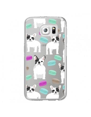 Coque Chiens Bulldog Français Macarons Transparente pour Samsung Galaxy S6 Edge - Pet Friendly