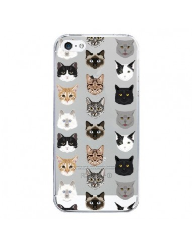 Coque iPhone 5/5S et SE Chats Transparente - Pet Friendly