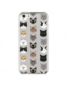 Coque iPhone 5C Chats Transparente - Pet Friendly