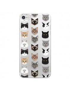 Coque Chats Transparente pour iPhone 7 - Pet Friendly