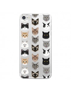 Coque iPhone 7 et 8 Chats Transparente - Pet Friendly