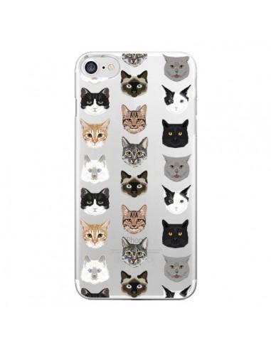Coque iPhone 7 et 8 Chats Transparente - Pet Friendly