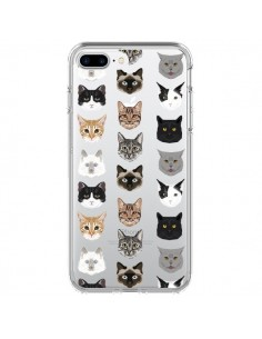 Coque iPhone 7 Plus et 8 Plus Chats Transparente - Pet Friendly