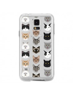 Coque Chats Transparente pour Samsung Galaxy S5 - Pet Friendly