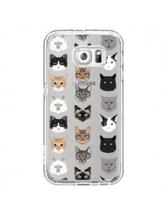 Coque Chats Transparente pour Samsung Galaxy S6 - Pet Friendly